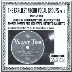 Earliest Negro Vocal Groups, Vol. 3 | Dodax.at