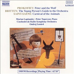 Prokofiev: Peter and the Wolf; Saint-Saëns: Carnaval of the Animals; Britten: Young Person's Guide to the Orchestra   Dodax.at