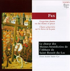 Pax - Gregorian chants on the theme of peace | Dodax.ch