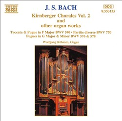 J.S. Bach: Kirnberger Chorales Vol. 2 and other Organ Works | Dodax.at