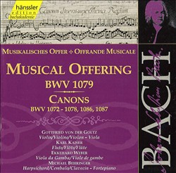 Musical Offering, Canons, 1 Audio-CD   Dodax.ch