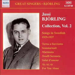 Jussi Björling Collection, Vol. 2: Songs in Swedish, 1929-1937 | Dodax.at