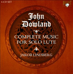 John Dowland: The Complete Solo Lute Music | Dodax.co.jp