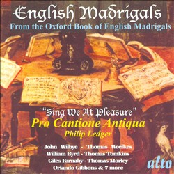English Madrigals: Sing We At Pleasure | Dodax.ch