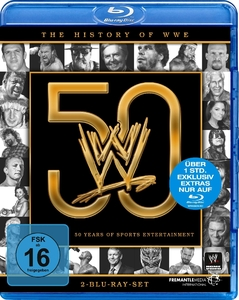 THE HISTORY OF WWE: 50 YEARS OF SPORTS ENTERTAINMENT, 2 Blu-rays | Dodax.at