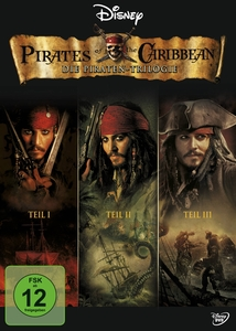 Pirates of the Caribbean, Die Piraten-Trilogie, 3 DVDs, deutsche u. englische Version | Dodax.ch