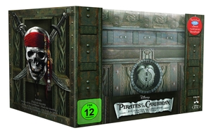 Pirates of the Caribbean 1-4, 4 Blu-rays + 4 DVDs + 1 Audio-CD (Collector's Edition) | Dodax.ch