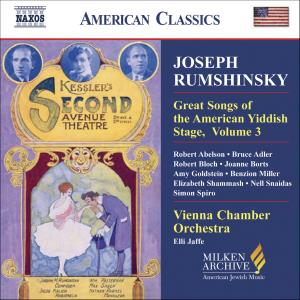 Joseph Rumshinsky: Great Songs of the Yiddish Stage, Vol. 3 | Dodax.co.uk
