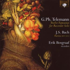 Telemann: Twelve Fantasias for Recorder Solo; Bach: Partita, BWV 1013 | Dodax.nl