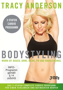 Tracy Anderson: Bodystyling-Sammelbox, Stufe 1-3, 3 DVDs | Dodax.at