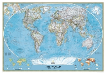 National Geographic Map Classic World Map, Political, deutsch, Planokarte | Dodax.at
