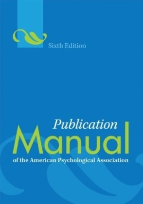 Publication Manual of the American Psychological Association | Dodax.ch