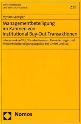 Managementbeteiligung im Rahmen von Institutional Buy-Out Transaktionen | Dodax.nl