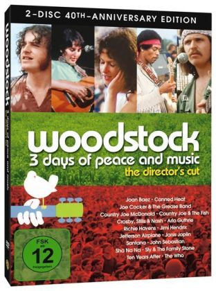 Woodstock, 2 DVDs (Director's Cut, 40th Anniversary Edition) | Dodax.ch