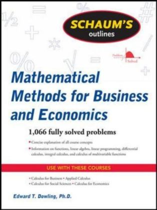 Mathematical Methods for Business and Economics | Dodax.at