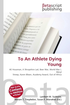 To An Athlete Dying Young | Dodax.ch