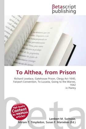 To Althea, from Prison | Dodax.ch