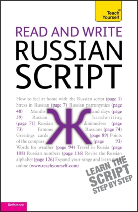 Teach Yourself Read and Write Russian Script | Dodax.ch