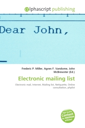 Electronic mailing list | Dodax.at