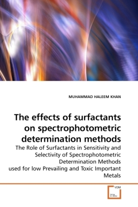 The effects of surfactants on spectrophotometric determination methods | Dodax.pl