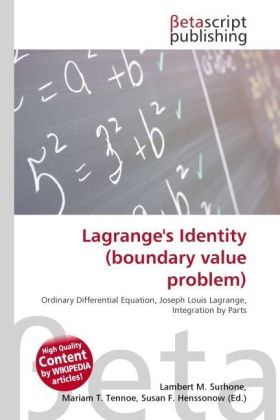 Lagrange's Identity (boundary value problem) | Dodax.ch
