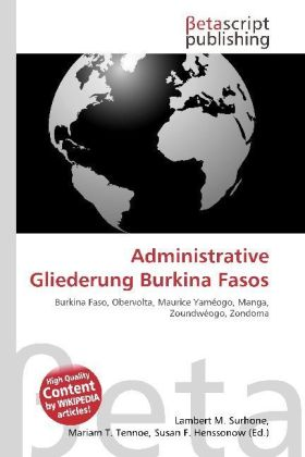 Administrative Gliederung Burkina Fasos | Dodax.co.uk