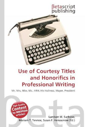 Use of Courtesy Titles and Honorifics in Professional Writing | Dodax.de
