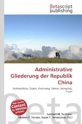 Administrative Gliederung der Republik China | Dodax.ch