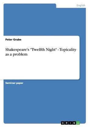 """Shakespeare's """"Twelfth Night"""" - Topicality as a problem   Dodax.ch"""