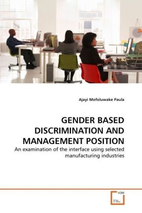 GENDER BASED DISCRIMINATION AND MANAGEMENT POSITION | Dodax.ch