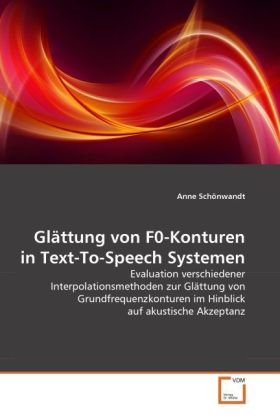 Glättung von F0-Konturen in Text-To-Speech Systemen | Dodax.at