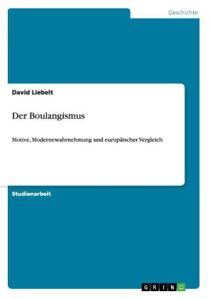 Der Boulangismus | Dodax.at