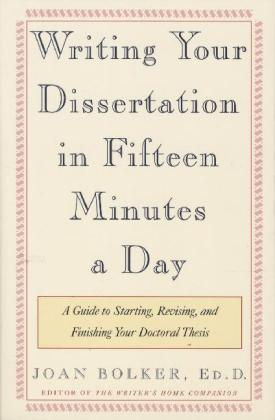 Writing Your Dissertation in Fifteen Minutes a Day | Dodax.de