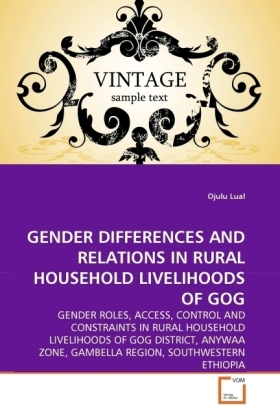 GENDER DIFFERENCES AND RELATIONS IN RURAL HOUSEHOLD LIVELIHOODS OF GOG | Dodax.pl
