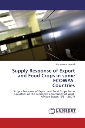 Supply Response of Export and Food Crops in some ECOWAS Countries | Dodax.co.uk