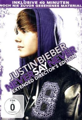 Justin Bieber Never Say Never, Extended Director's Edition, 1 DVD (Extended Drector's Edition) | Dodax.co.jp