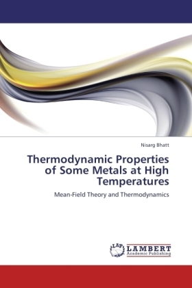 Thermodynamic Properties of Some Metals at High Temperatures | Dodax.ch