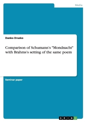 "Comparison of Schumann's ""Mondnacht"" with Brahms's setting of the same poem 