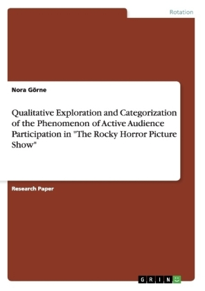 "Qualitative Exploration and Categorization of the Phenomenon of Active Audience Participation in ""The Rocky Horror Picture Show"" 