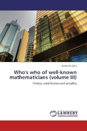 Who's who of well-known mathematicians (volume III) | Dodax.at