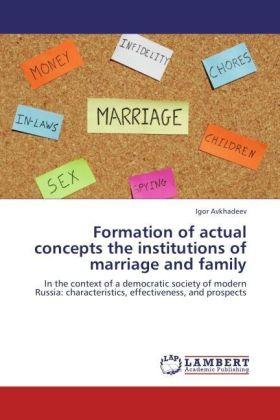 Formation of actual concepts the institutions of marriage and family | Dodax.ch