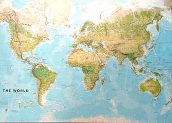 Freytag Berndt World Map, physical, laminiert | Dodax.at
