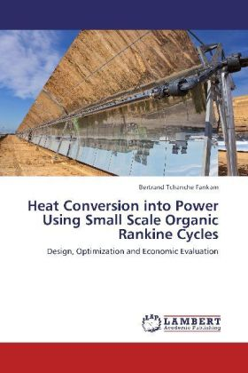 Heat Conversion into Power Using Small Scale Organic Rankine Cycles | Dodax.ch