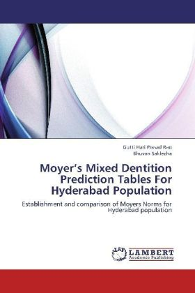 Moyer's Mixed Dentition Prediction Tables For Hyderabad Population | Dodax.pl
