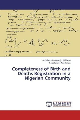 Completeness of Birth and Deaths Registration in a Nigerian Community   Dodax.pl