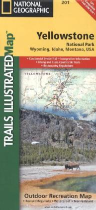 National Geographic Trails Illustrated Map Yellowstone National Park | Dodax.ch