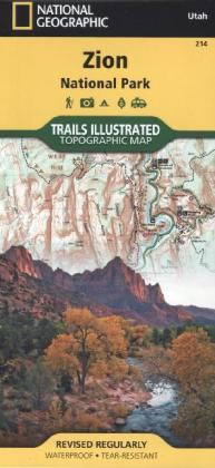 National Geographic Trails Illustrated Map Zion National Park | Dodax.ch