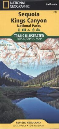 National Geographic Trails Illustrated Topographic Map Sequoia, Kings Canyon National Parks | Dodax.at