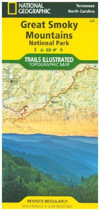 National Geographic Trails Illustrated Map Great Smoky Mountains National Park, Tennessee / North Carolina, USA | Dodax.ch