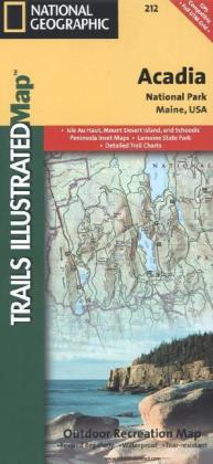 National Geographic Trails Illustrated Map Acadia National Park, Maine, USA | Dodax.ch